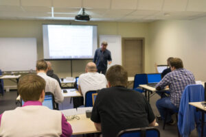 Security Training Instructor in Classroom